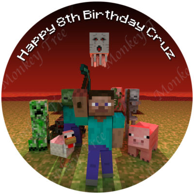 Minecraft Cake Toppers Nz