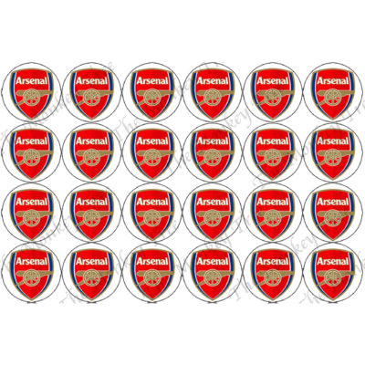 arsenal cupcake edible football soccer cupcakes