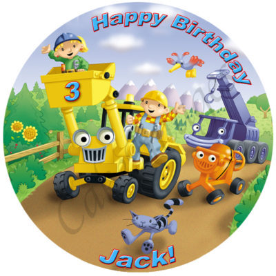 bob the builder edible cake image fondant