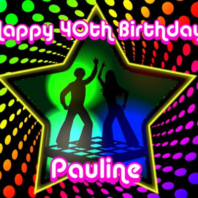 disco party birthday edible cake image fondant