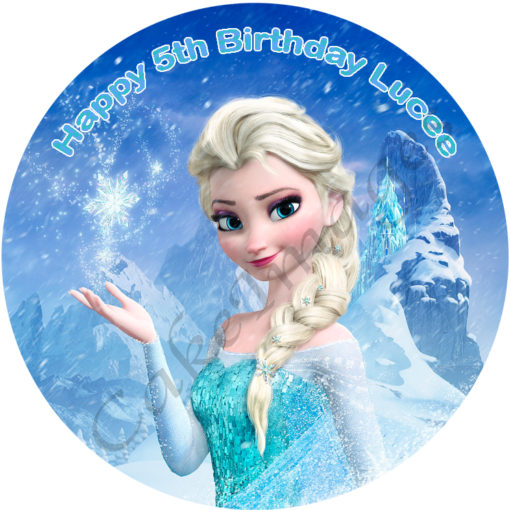 Frozen Elsa Personalised Edible Cake Image The Monkey Tree