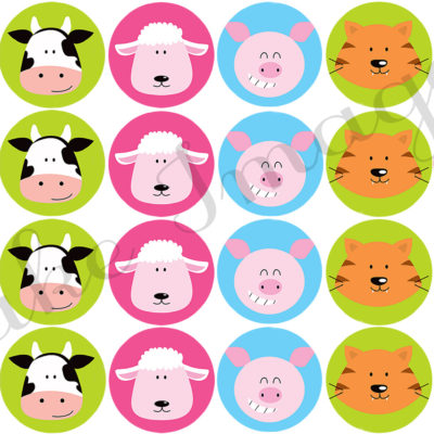 farm animals cupcake birthday party