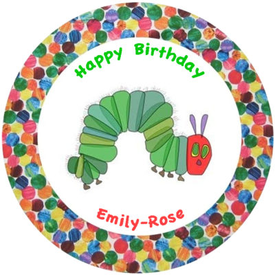 hungry caterpillar edible cake image fondant