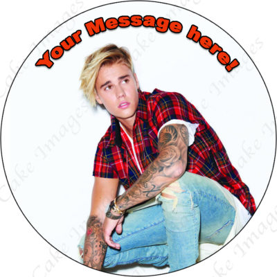 justin bieber edible image fondant cake music disco party