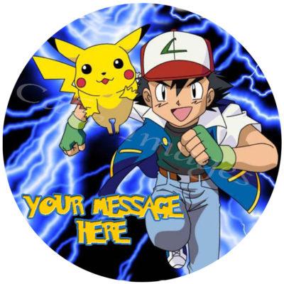 Pokemon Logo Edible Cake Print Images