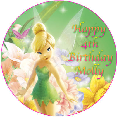tinkerbell edible cake image birthday party