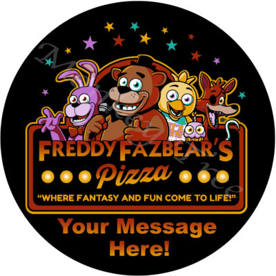 five nights at freddys fax bear fnaf edible cake image party birthday