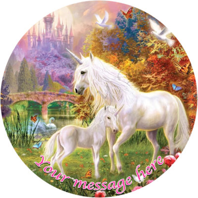 white unicorn fairy magic party birthday cake pegasus