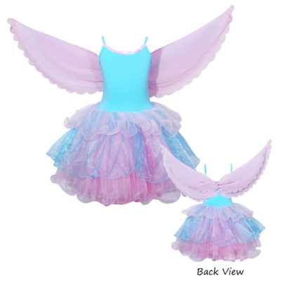 flamingo fairy dress blue