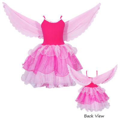 flamingo fairy dress pink wings