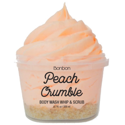 bon bon peach crumble body wash