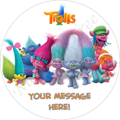 trolls movie edible image cake birthday
