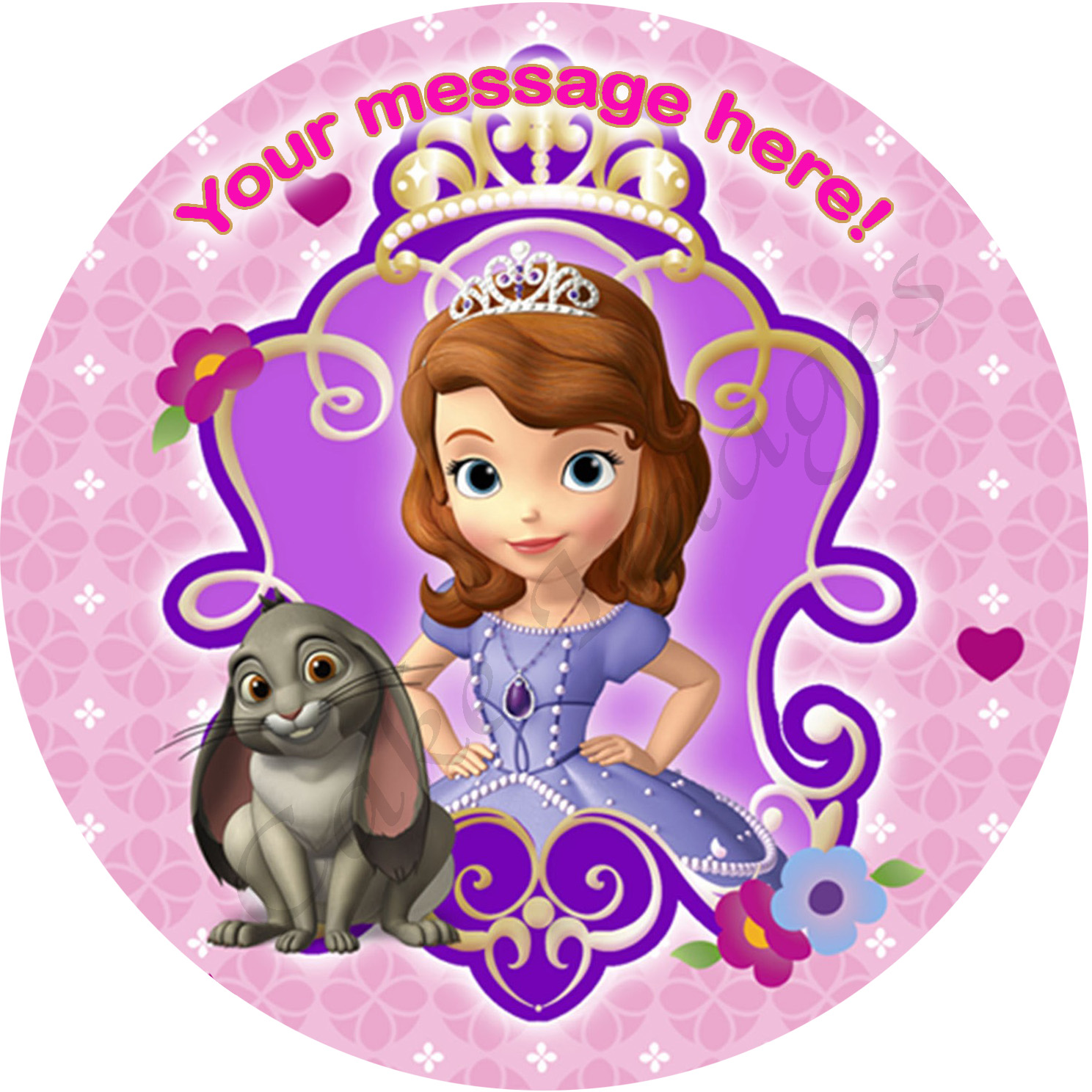 sofia the personalised edible cake image 2 the