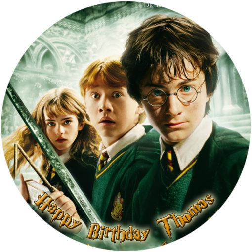 ... Cake Images G - L / Harry Potter Circle Personalised Edible Cake Image