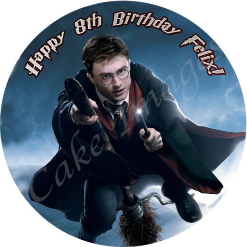 / Cake Images G - L / Harry Potter Circle Personalised Edible Cake ...