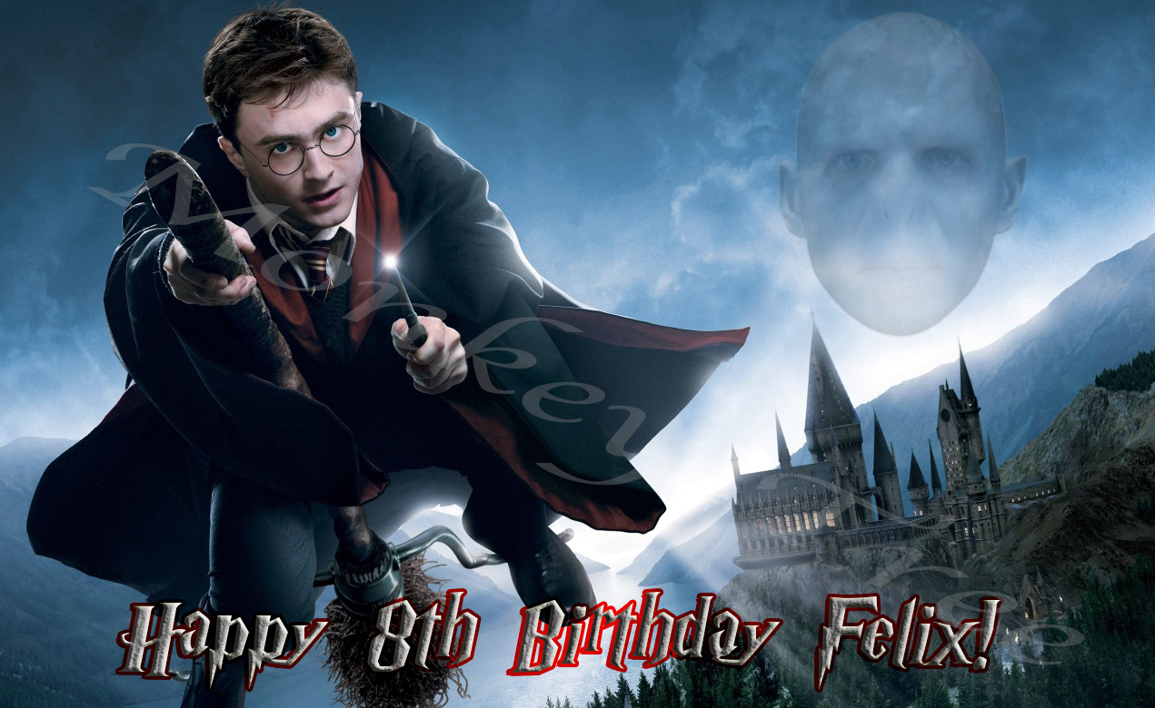 ... / Cake Images G - L / Harry Potter A4 Personalised Edible Cake Image