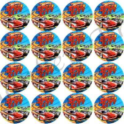hot wheels edible cake image photo cars birthday party cupcake