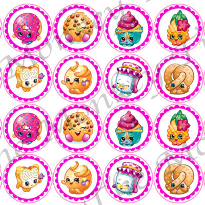 shoppies Hopkins edible cake cupcake fondant image toppers