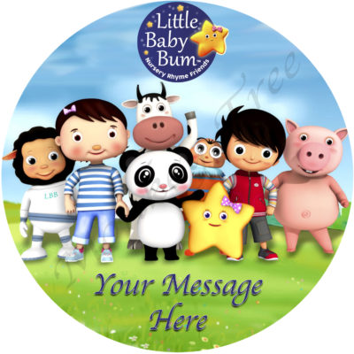 little baby bum edible cake topper image Auckland birthday party baby shower