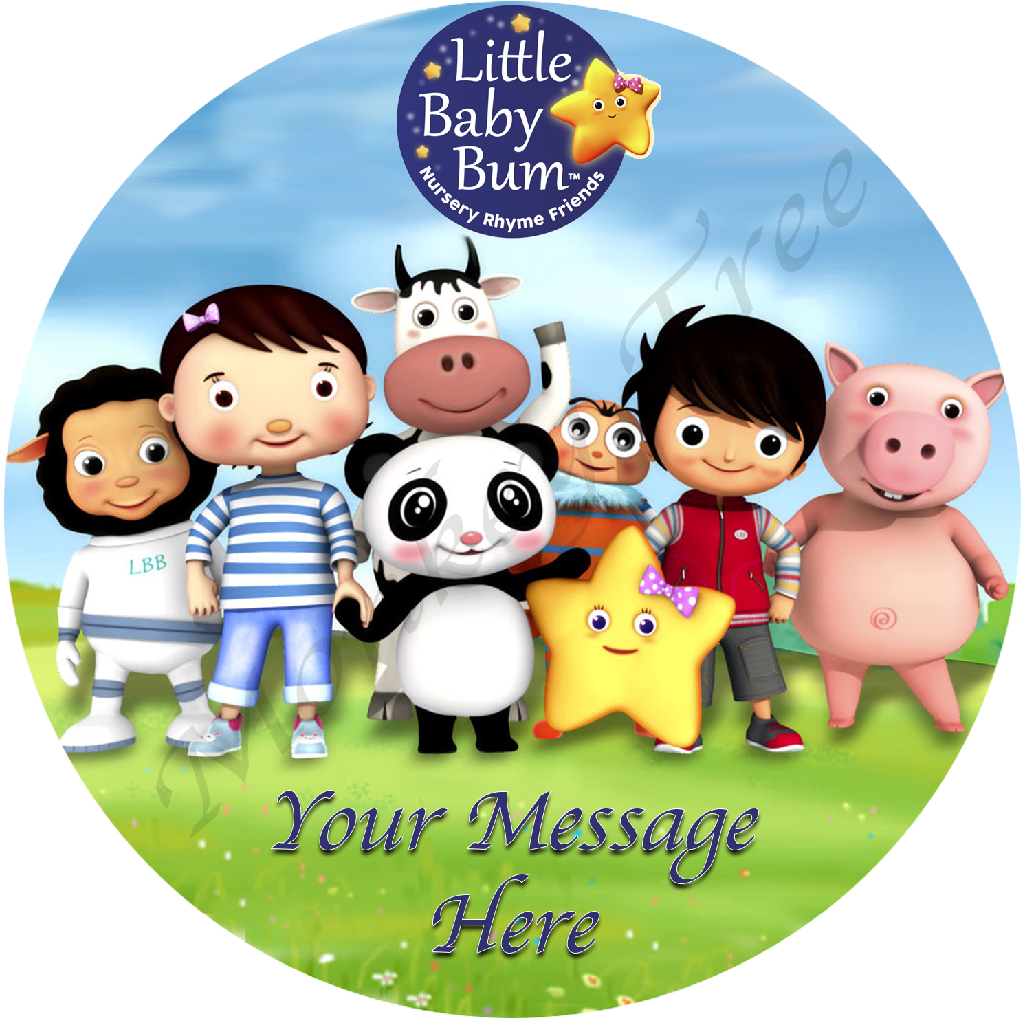 Little Baby Bum Edible Cake Image Topper The Monkey Tree