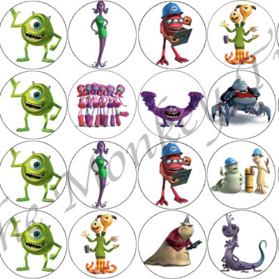 monsters inc cupcake birthday cake party topper edible image photo