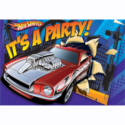 hot wheels party plate speed city invites