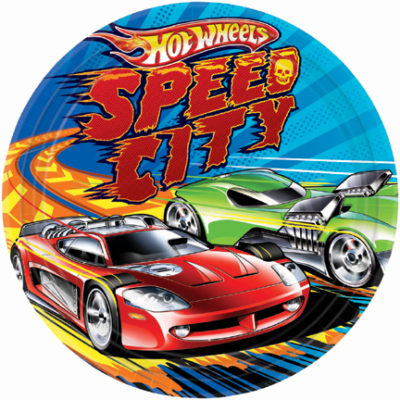 hot wheels party plate speed city