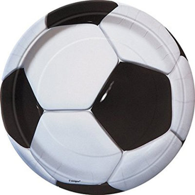 football plate soccer ball party
