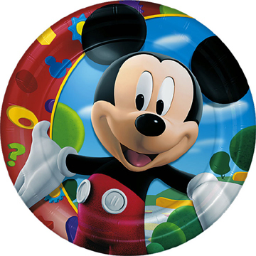 mickey mouse plate party birthday Minnie