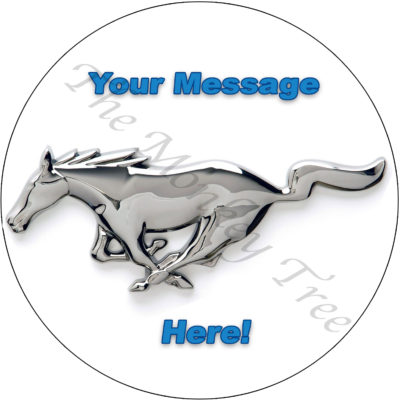 Ford Mustang birthday cake edible cake image topper mustang