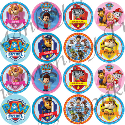 paw patrol edible cake image fondant topper cake cupcake birthday party