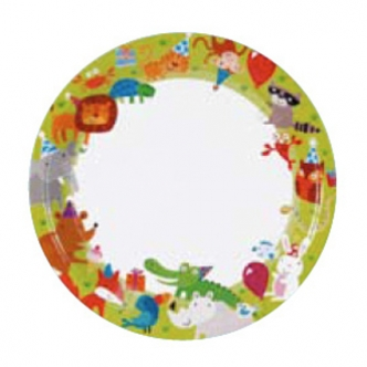 Jungle Party Animals Paper Plate