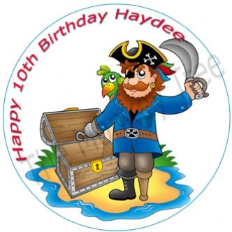 pirate ship edible cake image cupcake birthday party captain