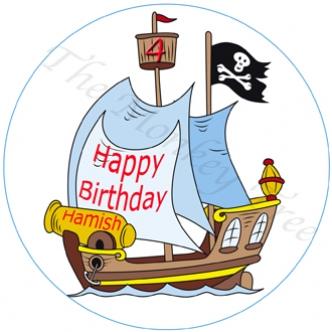 pirate ship edible cake image cupcake birthday party