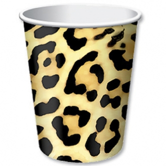 Leopard Print Paper Cup birthday Party