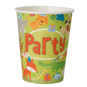 Jungle Animals Paper Party Cup