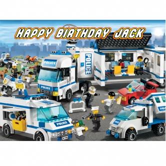 Lego City Ambulance Edible Cake Image Topper Cupcake birthday party