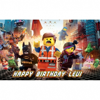 Lego Movie Edible Cake Image Topper Cupcake birthday party