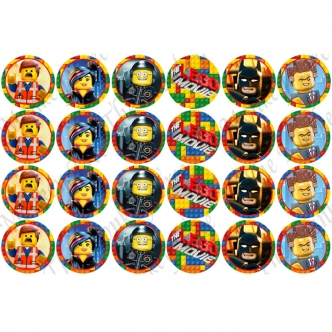 Lego Movie Batman Edible Cake Image Topper Cupcake birthday party