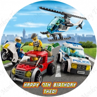 Lego City Edible Cake Image Topper Cupcake birthday party