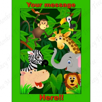 Jungle Animals Cupcake Edible Cake Image Toppers Birthday Party
