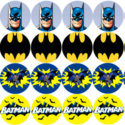 Batman Edible Cake Image Topper Birthday Party cupcake