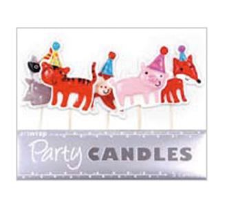 Birthday animal party candles