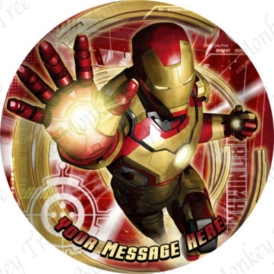 Ironman Superhero Edible Cake Image Topper birthday party cupcake