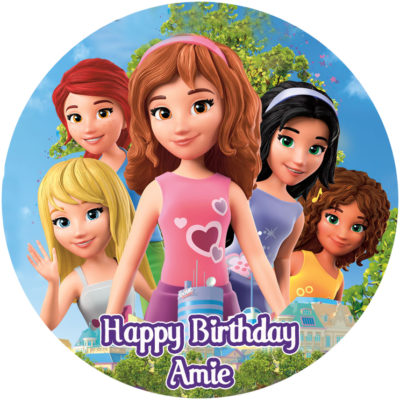 lego friends edible cake topper