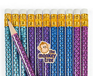 Mermaid Pencil Party Loot Gift Bag present prize