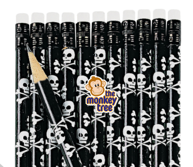 Pirate Skull & Crossbones Pencil Party Loot Gift Bag present prize
