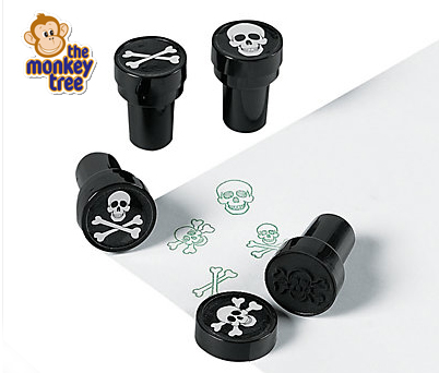 pirate party stamper invite