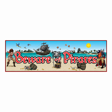 Pirate Party Wall Hanging Decoration Banner