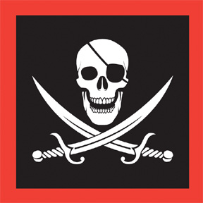 Pirate Birthday Party Napkin Skull & crossbones